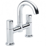 Pegler Slique 2 Tap Hole Bridge Bath Filler - 58SLI001